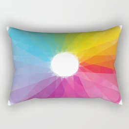 Geometric rainbow Rectangular Pillow