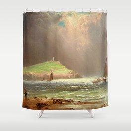 Sailing off the Coast, Gay Head, Martha's Vineyard by Charles Henry Gifford  Shower Curtain