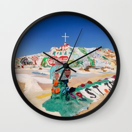 The colorful mountain Wall Clock