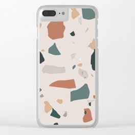 Terrazzo on earth Clear iPhone Case