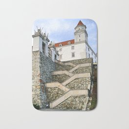 Stairs leading to Slovakian Castle Bath Mat
