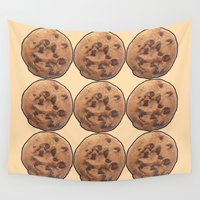 cookie Wall Tapestries featuring Cookie by Spooky Dooky