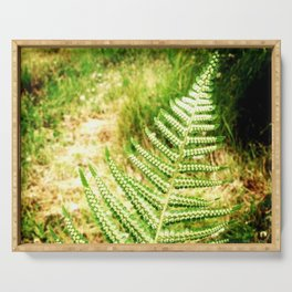 Green Fern Serving Tray