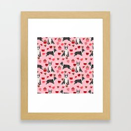 Bull Terrier valentines day love cupcakes hears dog breed pet friendly gifts Framed Art Print