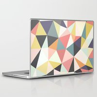 deco Laptop & iPad Skins featuring Deco Tris by Beth Thompson