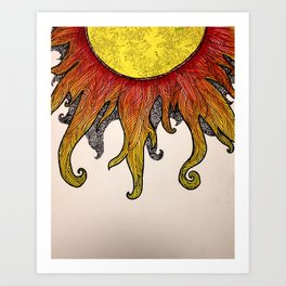 i really just want to be warm yellow light that pours over everyone i love Art Print