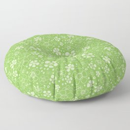 Sweet Green Floral Floor Pillow