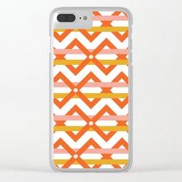 Stripe Weave Clear iPhone Case