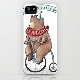 George the circus bear iPhone Case