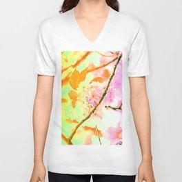 Spring hippy love colors Unisex V-Neck