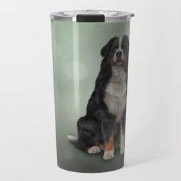 Bernese Mountain Dog. Drawing Travel Mug