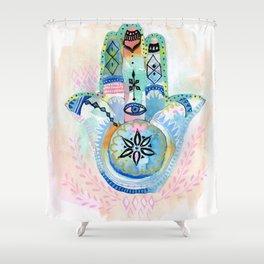 Morocco Hamsa Hand Shower Curtain