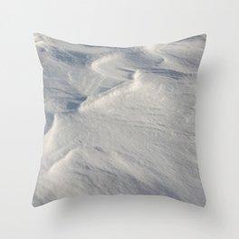 April snow drifts Throw Pillow