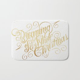 Dreaming of a White Christmas Bath Mat