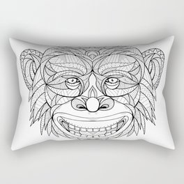 Chimpanzee Head Zentagle Rectangular Pillow