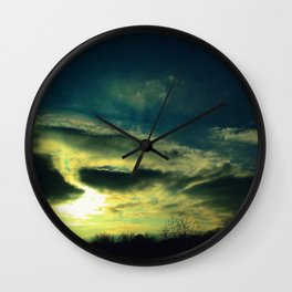 Winter Sunset over Newark Wall Clock