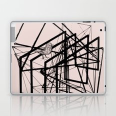 Bird in abstract space line art Laptop & iPad Skin