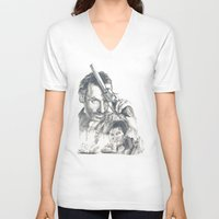 the walking dead V-neck T-shirts featuring Walking Dead by Heather Andrewski