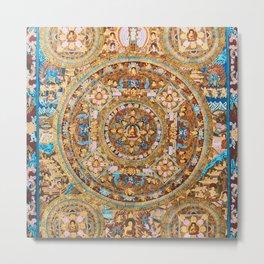 Buddhist Mandala 47 Buddha Mudra Metal Print