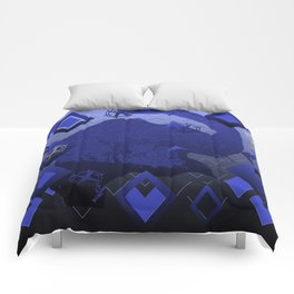 Elephant Blue Comforters