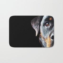 Rottie Love - Rottweiler Art By Sharon Cummings Bath Mat