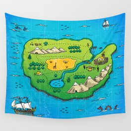 Old pirate's map Wall Tapestry