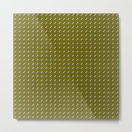 DASH DASH LINEN . MID-CENTURY OLIVE Metal Print