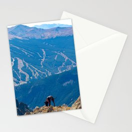 Dog Gone Climbing 2 // High above Copper Mountain Ski Resort in Colorado Landscape Photograph Stationery Cards