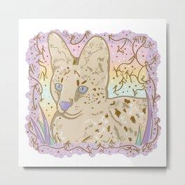 Pretty Little Serval Metal Print