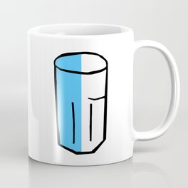 Half full glass Coffee Mug
