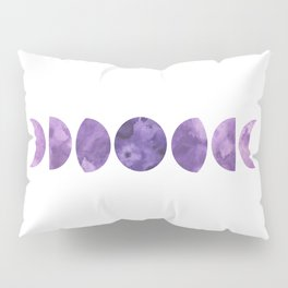 Lunar Phases in Violet Pillow Sham