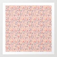 Peachy Flower Art Print
