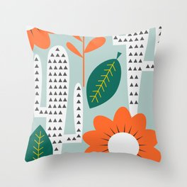 Modern cactus day Throw Pillow