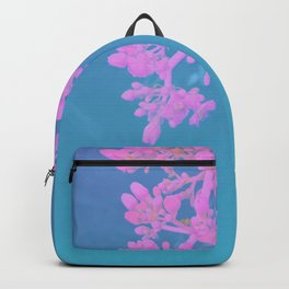 Vibrant Tropical Flower - Glitch Effect Composition Backpack