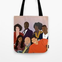 fresh prince Tote Bags featuring The Fresh Prince by Jara Montez