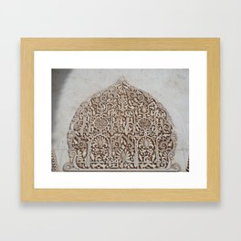 La Alhambra small details Framed Art Print
