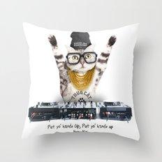 Thug Cat Throw Pillow