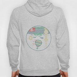 World Upside Down: Hot Air Balloon Hoody