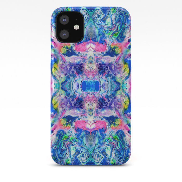 Mushroom Blue Green Pattern iPhone 11 case
