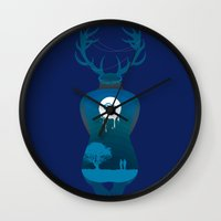 true detective Wall Clocks featuring True Detective by Hyung86
