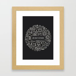 Great Outdoors Inverted Framed Art Print