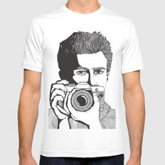 James Dean White MEDIUM Mens Fitted Tee
