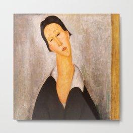 "Amedeo Modigliani ""Portrait of a Polish Woman"" Metal Print"