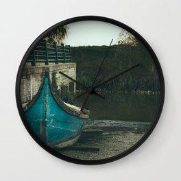 Resting boat (color) Wall Clock