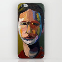 Colorful man iPhone Skin