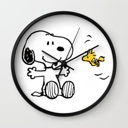 love you snoopy Wall Clock