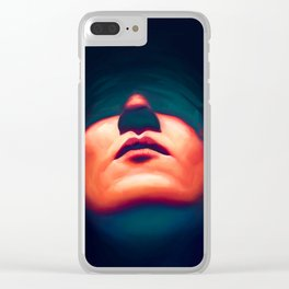 Glass Eyes Clear iPhone Case