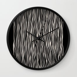 Between the lines doodle 2. Black #abstract Wall Clock