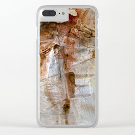 Earthbound // acrylic modern abstract painting Clear iPhone Case