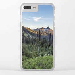 View of the Tatoosh Range Clear iPhone Case